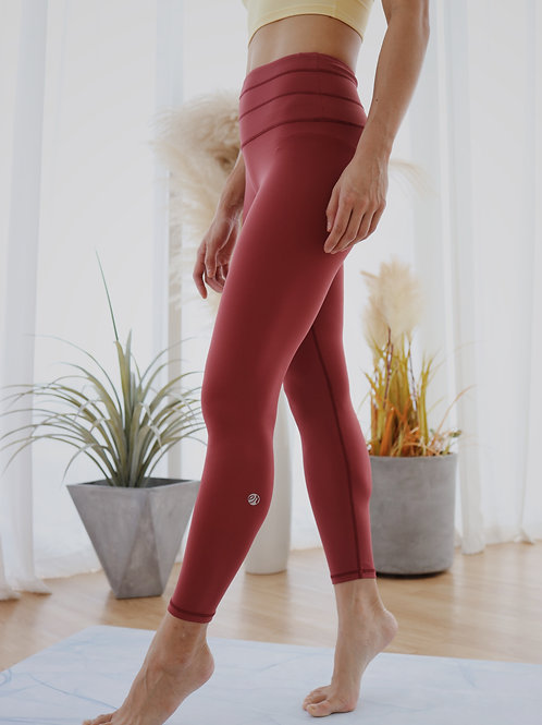 Feel Alive Leggings in Ruby