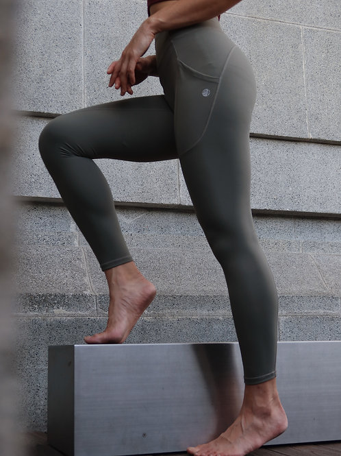 7/8 High Waist Allude Leggings in Olive