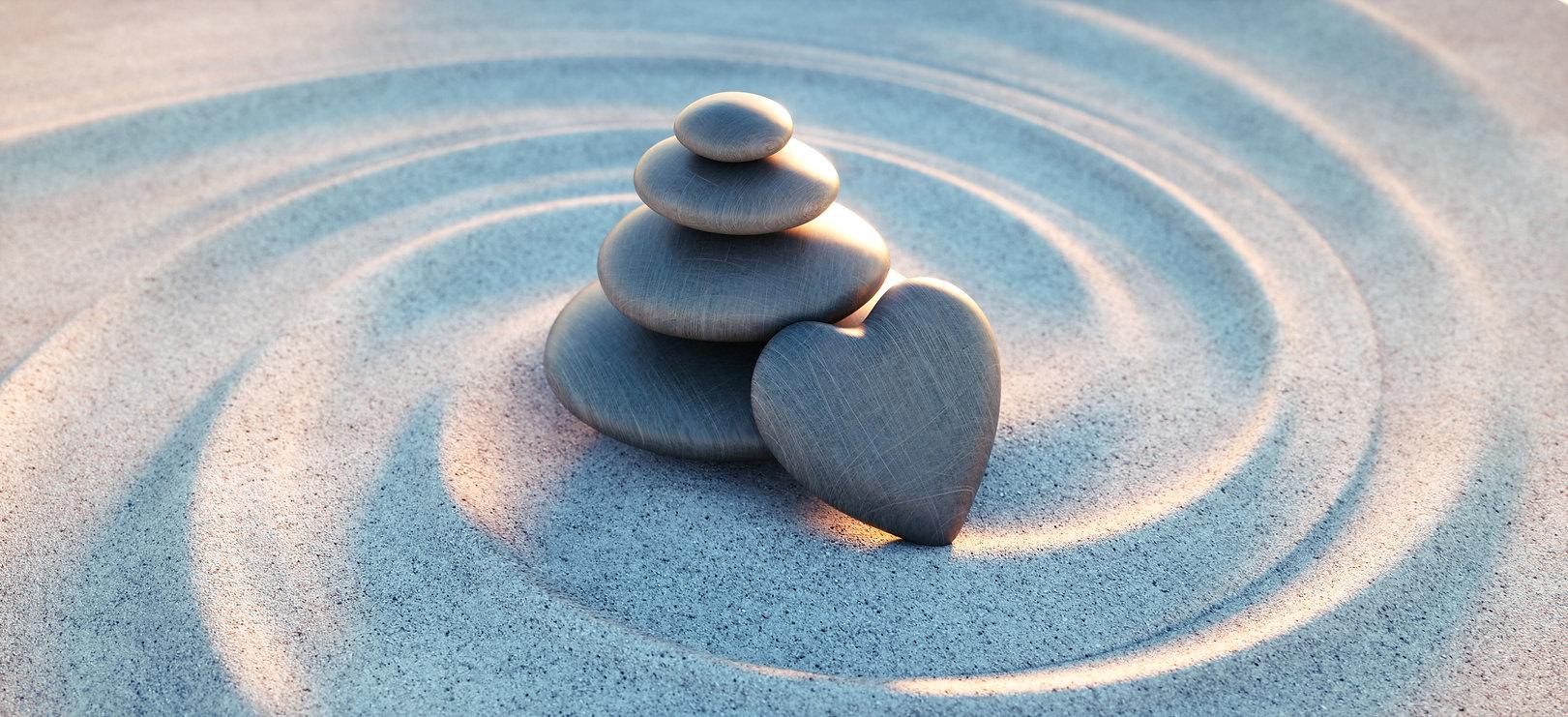 Zen stones with heartshutterstock_142775