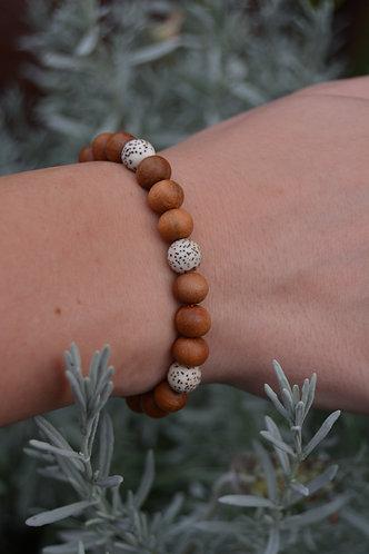 The Sandalwood Bracelet: 3 Lotus Seeds