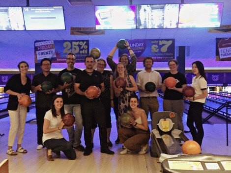 The Early Detection bunch goes bowling