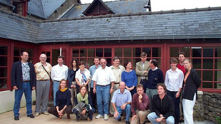 The participants of the conference 3-rd Singular days…    at the beautiful site of Le-Tronchet – France, Aug. 2002
