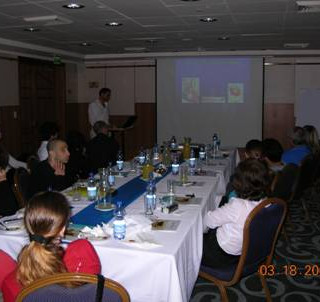 The meeting room – Listening to the talks