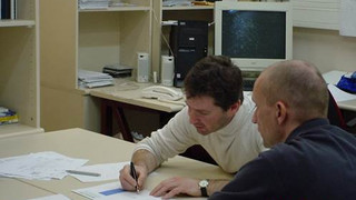 Mar 2006: Left: At BGU, in the lab, Discussing with S Hartmann a CIP simulation during his visit in our group. Right: GIF annual meeting, Ginosar   Left to Right  - ZY, Stefan Hartman – ZY, N. Frage, E. Rank, A. Barak, U. Heisserer, S. Hartmann, A. Duester, W. Bier.