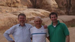 Nov 2013 – With Ernst Rank (left) and Kobi (middle) at Wadi Ram, Jordan.