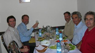 Oct 2006 – Top – Ernst Rank with ZY, Shunit and Nir on a tour of Peres Gorge in the Negev.   Bottom -  ZY, Ernst Rank, Dan Givoli, Pini Bar-Yosef  and Tzahi Harari,  After ISCM-21 hosted at BGU –Beer-Sheva, Israel.