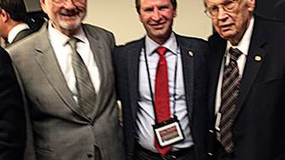 March 2016 – Celebrating the 90th birthday of Ivo Babuska at Univ of Texas at Austin, USA  - (From left) Barna Szabo, Zohar, Ivo Babuska.