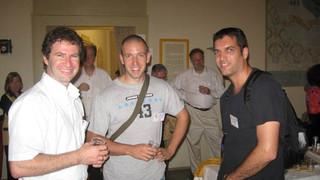 Sep 2009 – Registration get-together – ICCB09, Bertinoro, Italy  From left, Zohar, Sebastian Eberle, Nir Trabelsi