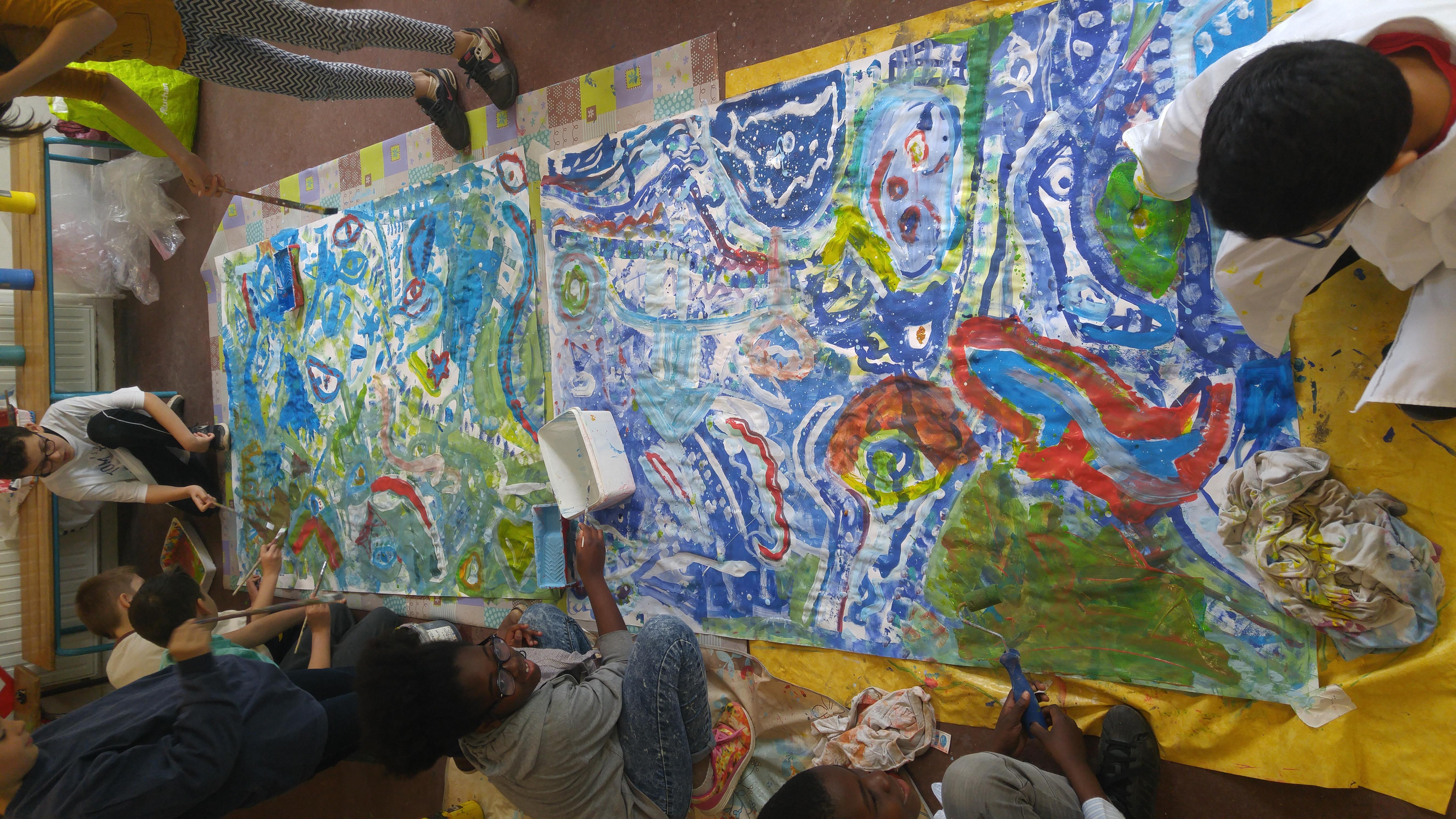 Peintures Participatives à l'école