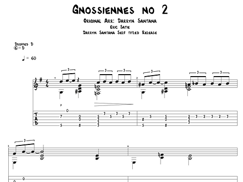 Gnossiennes no. 2 for Guitar