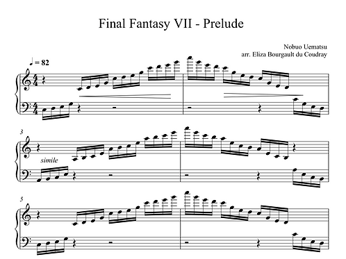 Final Fantasy 7 - Prelude (Harp Only)