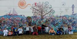 Fresque collective en écoles