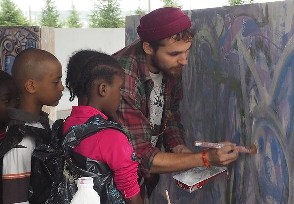 activité peinture, team building, fasto, art, street art, écoles, fresque, participative, intuition, confiance