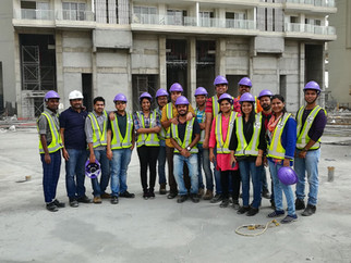 Site visit to Crescent Bay Project, Mumbai