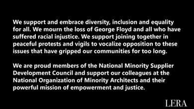 LERA Supports Diversity and Equality For All