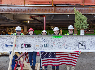 LERA at Coney Island Hospital Topping Out Ceremony