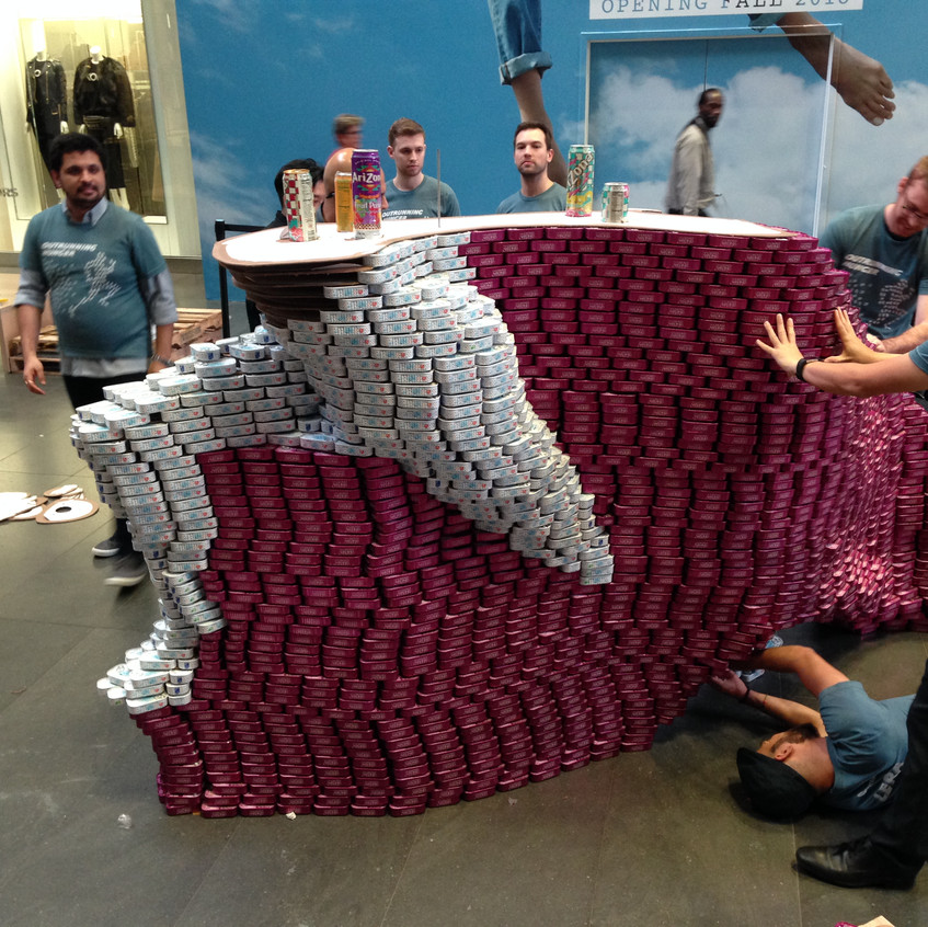 Our can man takes shape.