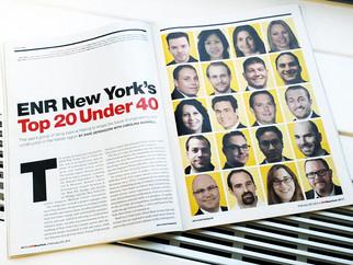 Matt Melrose Awarded ENR New York Top 20 Under 40 Award