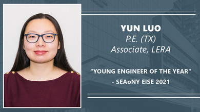 LERA's Yun Luo named 'Young Engineer of the Year' at 2021 SEAoNY EISE Awards