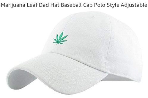 Adjustable marijuana baseball cap