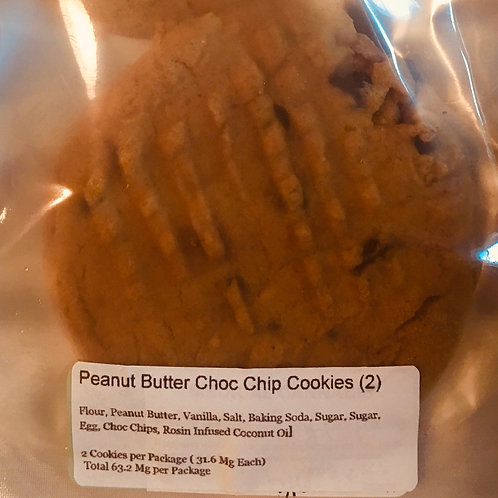 Peanut Butter Chocolate Chip Cookies (2 cookies / 33 each