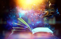 Magic book with light and shine An amazi
