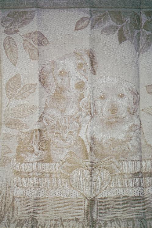 Küchentuch Jaquard Hund und Katze