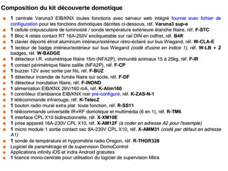 Kit découverte domotique Varuna3 2015