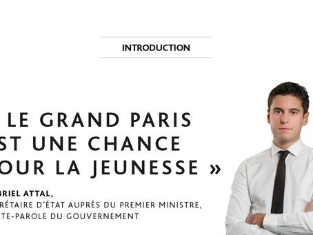 """""""Le Grand Paris est une chance pour la jeunesse"""" par Gabriel Attal"""