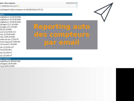 Reporting auto des compteurs par email