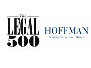 Le Cabinet Hoffman classé dans le classement THE LEGAL 500 EMEA 2020