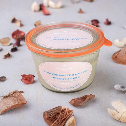 Crème d'artichaut à l'huile de truffe