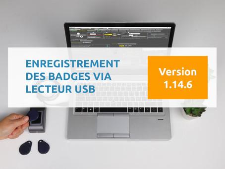 Enregistrement des badges via lecteur USB