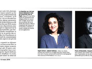 RGPD et Franchise, le Cabinet Hoffman dans le Journal du Textile – Edition du 12 mars 2019