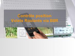 Contrôle position Volets Roulants via B8R
