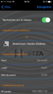 Sélectionnez le site Showroom
