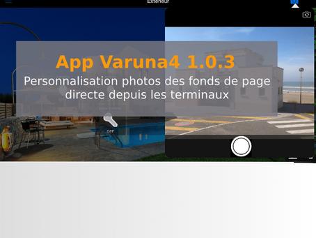 App Varuna4 : Personnalisation des photos en fond de page depuis les terminaux