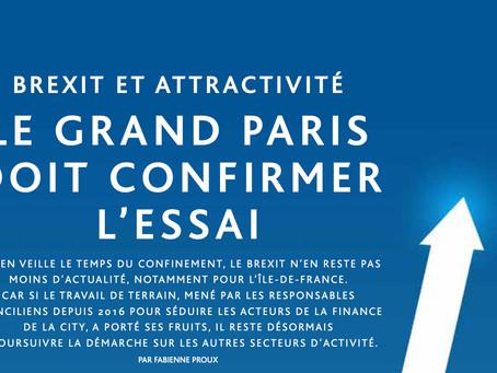 Brexit et attractivité: le Grand Paris doit confirmer l'essai