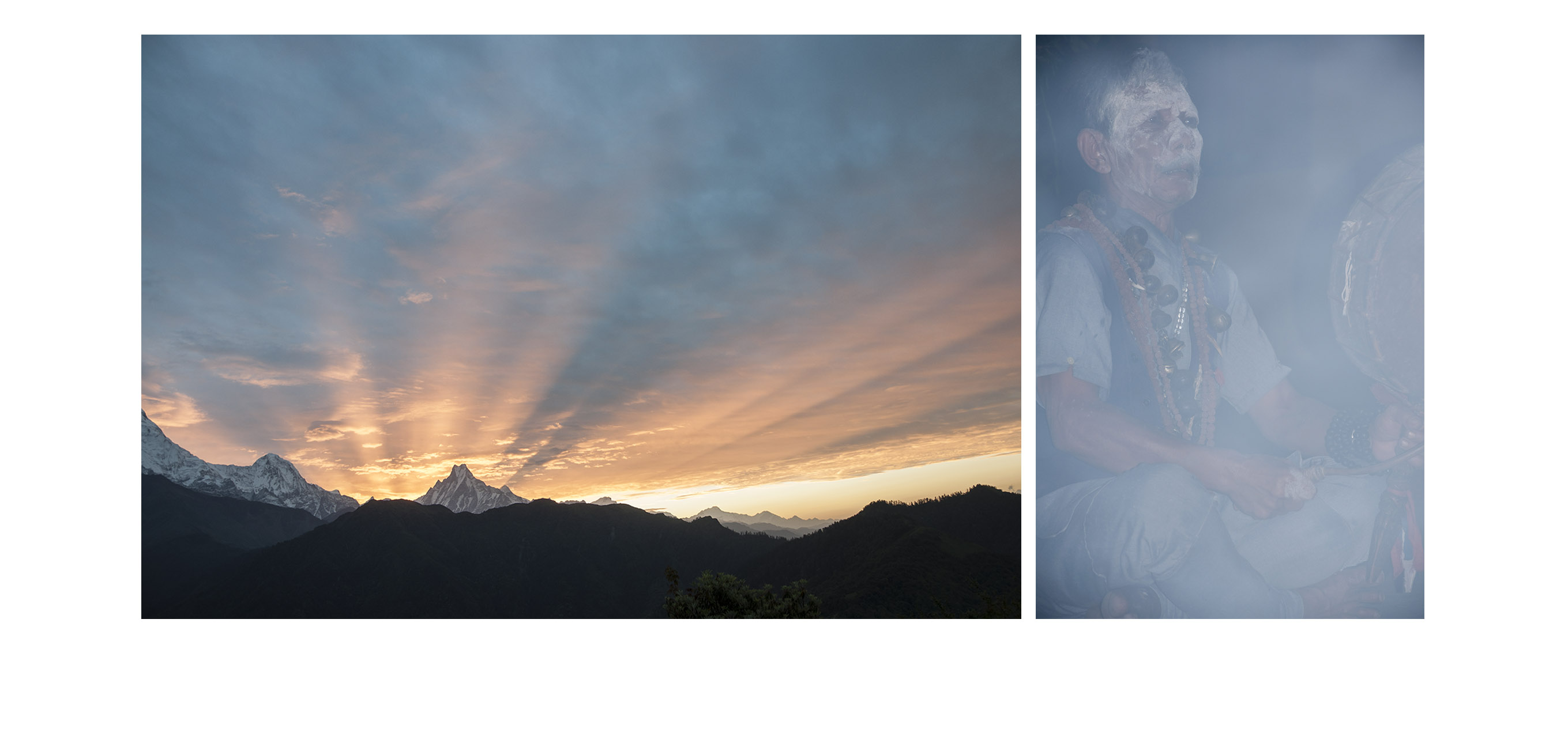 Schamane im Himalaya