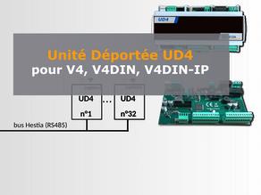 Unité Déportée UD4 pour V4 et V4DIN(IP)
