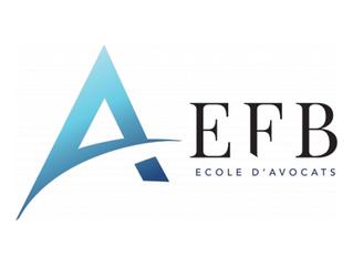 Intervention à l'Ecole des avocats du Barreau de Paris (EFB)