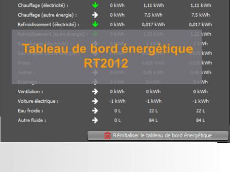 Tableau de bord énergétique RT2012