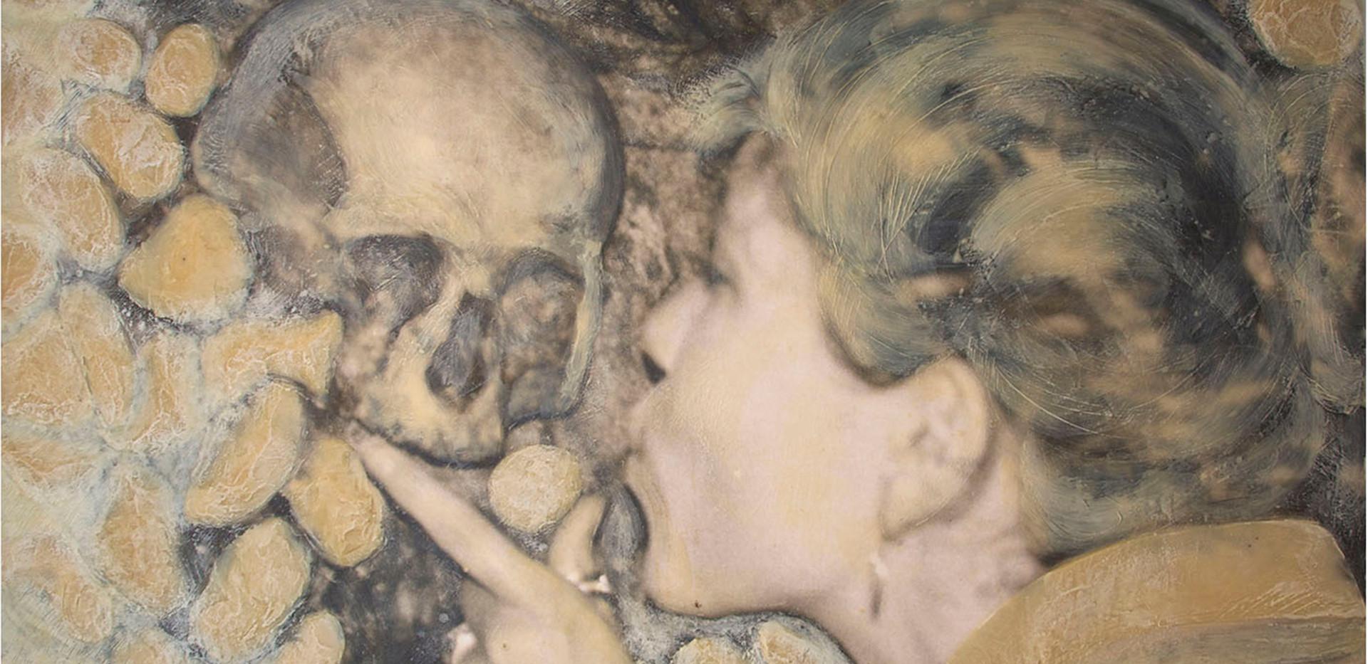 """""""Das Mädchen und der Tod"""" Selbstportrait"""