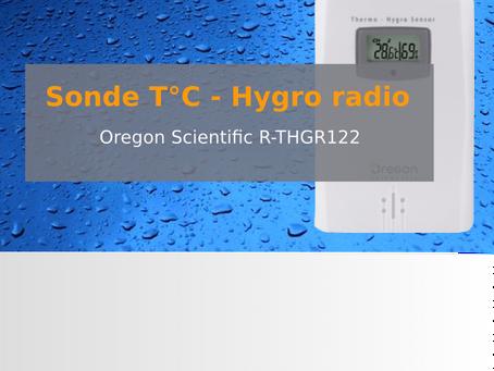 Nouvelle sonde température – hygrométrie radio