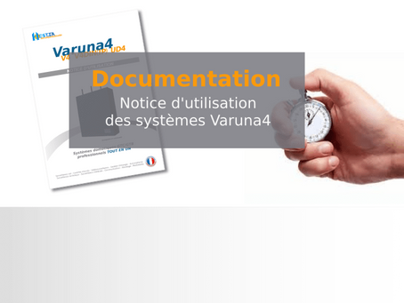 Notice d'utilisation systèmes Varuna4