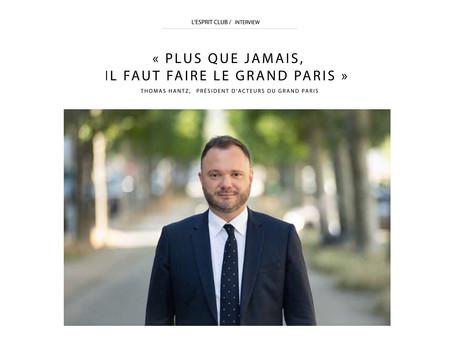 """""""Plus que jamais, il faut faire le Grand Paris"""" interview de Thomas Hantz"""