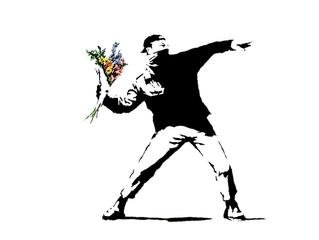 Banksy perd sa marque « le lanceur de fleurs »