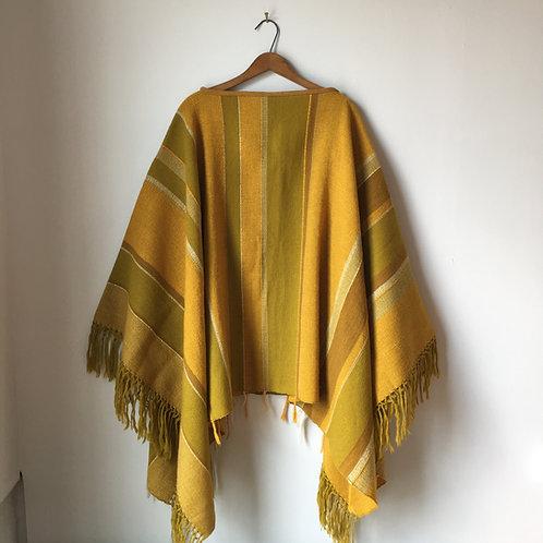 1960s Parrott Woven Wool Poncho