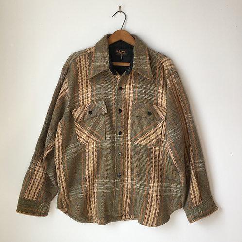1970s Envoy Wool Plaid Shirt Jacket