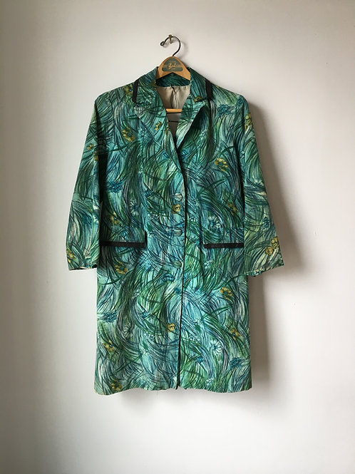 1960s Abstract Floral Lady Coat